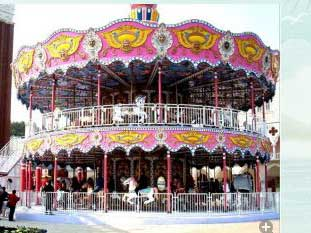 double decker amusement carousel ride